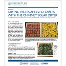 Drying fruits and vegetables with a chimney solar dryer - Section 2 cover from solar dryer construction manual