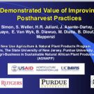 Demonstrated Value of Improving Postharvest Practices
