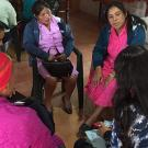 women in discussion group in Honduras